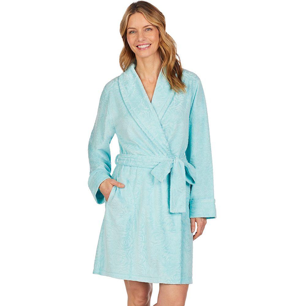 Women's Stan Herman Textured Terry Wrap Robe
