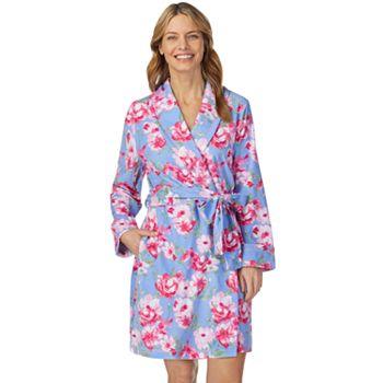 Women's Stan Herman Printed Terry Wrap Robe