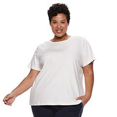 Plus Size Croft & Barrow® Essential Crewneck Top