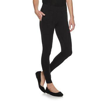 Women's Utopia by HUE Black Ankle Leggings