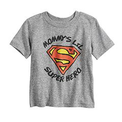 Baby Boy Jumping Beans® 'Mommy's Lil Super Hero' Superman Logo Heathered Graphic Tee