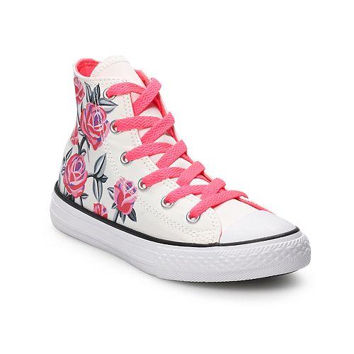 6d4d69853d384 Converse Chuck Taylor All Star Girls  Floral High Top Shoes