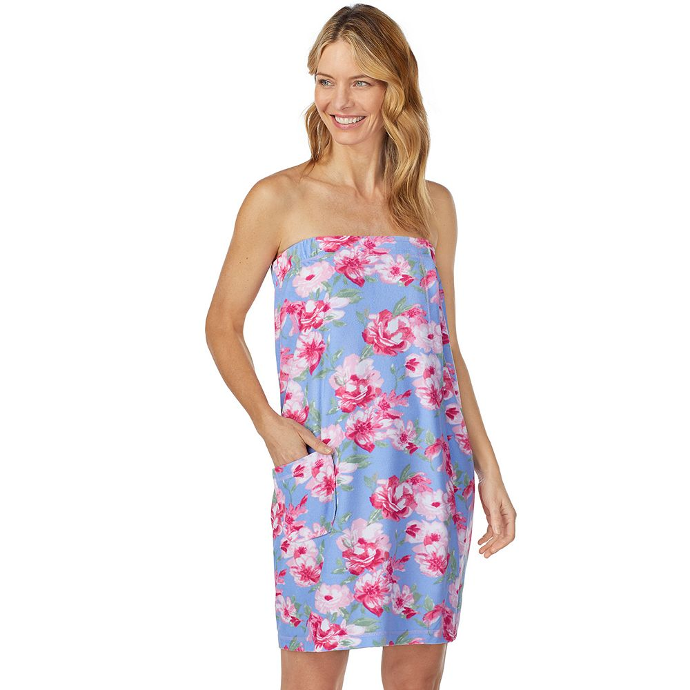 Women's Stan Herman Floral Terry Shower Wrap