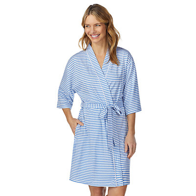 Women's Stan Herman Striped Jersey Robe