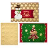 Hallmark 40-Count Assorted Snowman & Christmas Tree Christmas Boxed Cards