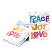 Hallmark UNICEF 12-Count Peace Joy Love Lettering Christmas Boxed Cards