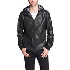 Men's Levi's® Perforated Faux-Leather Hooded Bomber Jacket