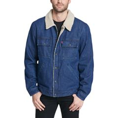 Men's Levi's Sherpa-Lined Washed Denim Trucker Jacket