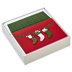 Hallmark Signature Christmas Stockings10-Count Christmas Boxed Cards