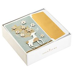 Hallmark Signature Deer with Snowflakes 10-Count Christmas Boxed Cards