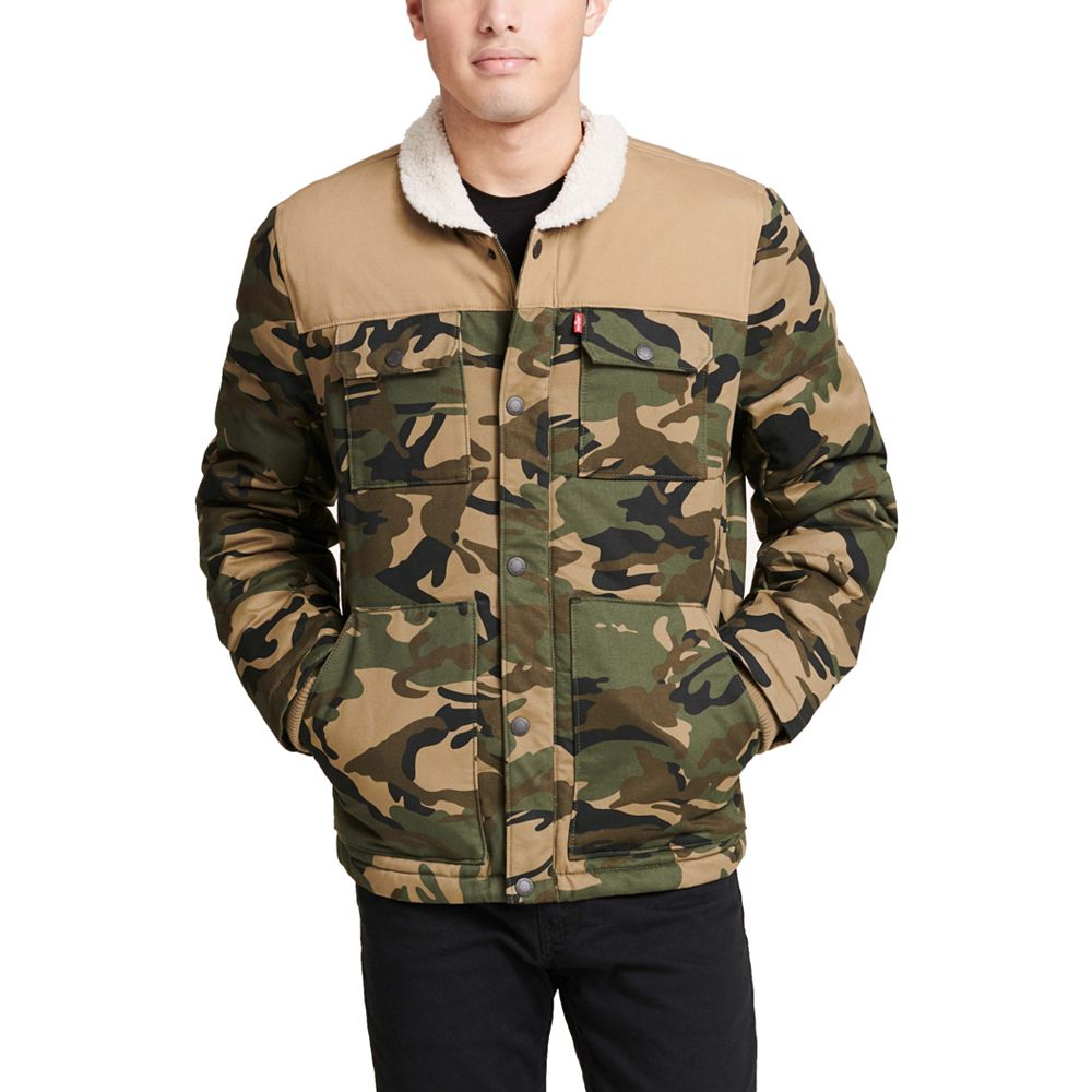Men's Levi's Woodsman Arctic Cloth Sherpa-Collar Quilted Trucker Jacket