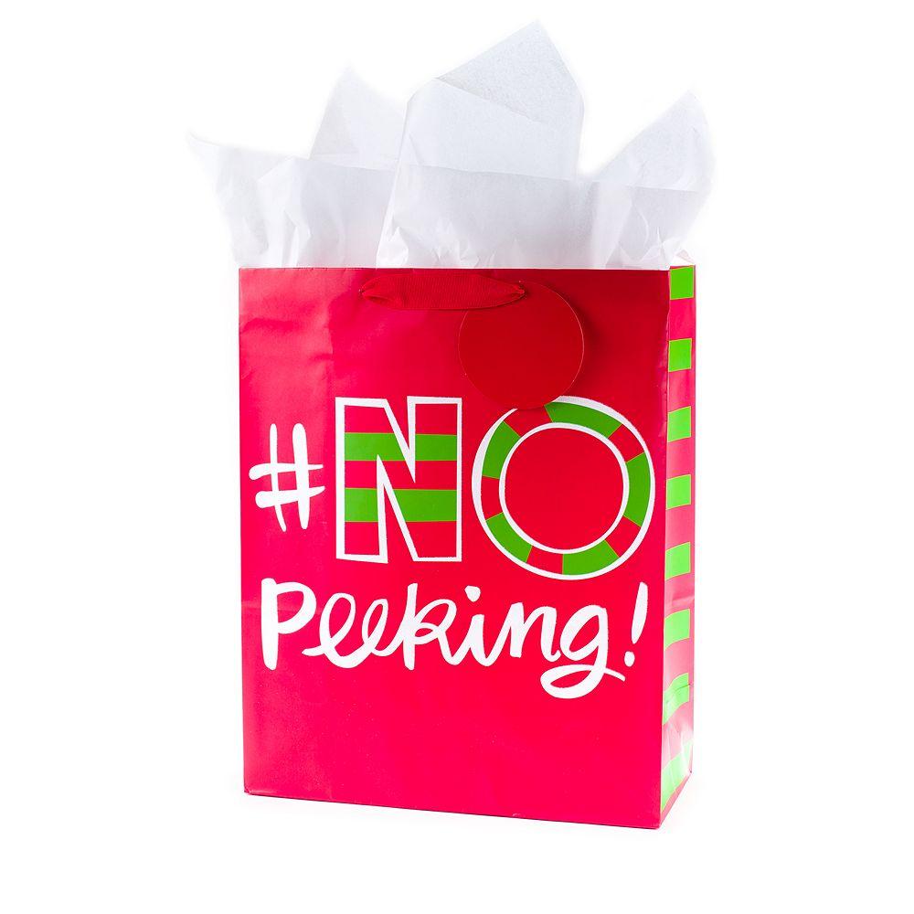 Hallmark No Peeking Extra Large Christmas Gift Bag with Tissue Paper