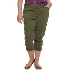 Plus Size SONOMA Goods for Life™ Ultra Comfort Waistband Utility Capris