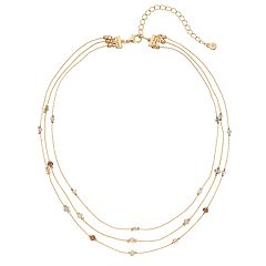 LC Lauren Conrad Beaded Multi Strand Necklace