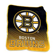 Logo Brands Boston Bruins Raschel Throw Blanket