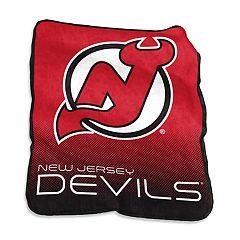 Logo Brands New Jersey Devils Raschel Throw Blanket