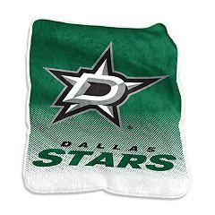 Logo Brands Dallas Stars Raschel Throw Blanket