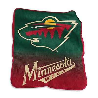 Logo Brands Minnesota Wild Raschel Throw Blanket