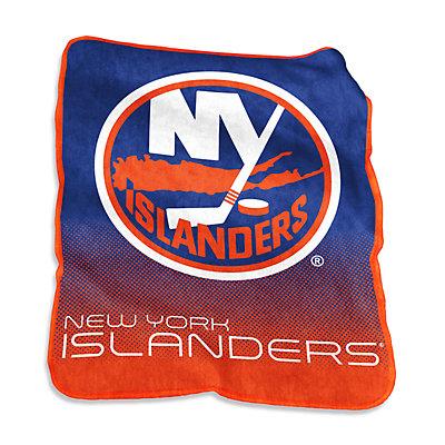 Logo Brands New York Islanders Raschel Throw Blanket