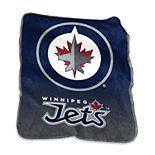Logo Brands Winnipeg Jets Raschel Throw Blanket