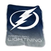 Logo Brands Tampa Bay Lightning Raschel Throw Blanket