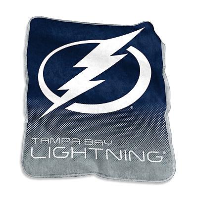 Logo Brands Tampa Bay Lightning Raschel Throw Blanket