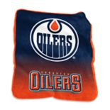 Logo Brands Edmonton Oilers Raschel Throw Blanket