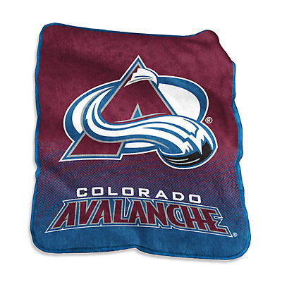 Logo Brands Colorado Avalanche Raschel Throw Blanket