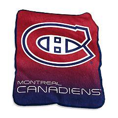 Logo Brands Montreal Canadiens Raschel Throw Blanket