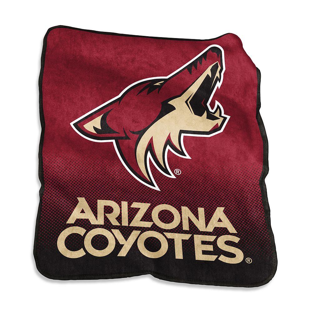 Logo Brands Arizona Coyotes Raschel Throw Blanket