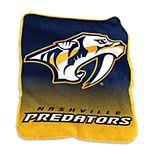 Logo Brands Nashville Predators Raschel Throw Blanket