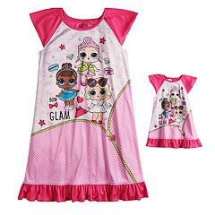 Girls 6-10 L.O.L. Surprise! Dorm Nightgown & Matching Doll Nightgown
