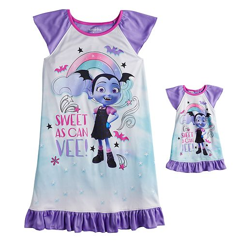 Disney's Vampirina Girls 4-10 Dorm Nightgown with Matching Doll Nightgown