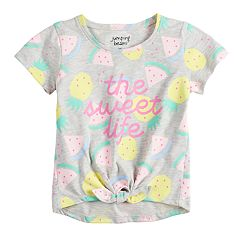 Toddler Girl Jumping Beans® Graphic Knot-Front Tee