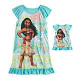 Disney's Moana Girls 4-8 Dorm Nightgown & Doll Nightgown