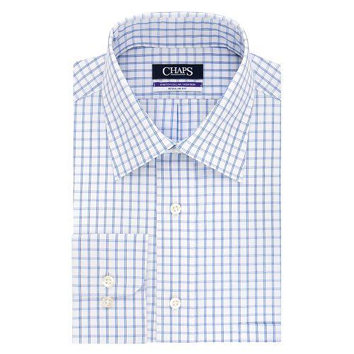 Big & Tall Chaps Regular-Fit Non-Iron Stretch Button-down Shirt
