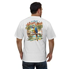 Men's Newport Blue 'The Screaming Parrot Cantina' Graphic Tee