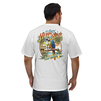 """Men's Newport Blue """"The Screaming Parrot Cantina"""" Graphic Tee"""