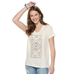 Juniors' Triangle Moon Graphic Tee