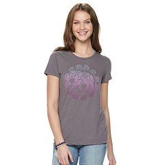 Juniors' Hamsa Elephant Graphic Tee