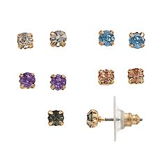 LC Lauren Conrad Nickel Free Multicolored Simulated Crystal Stud Earring Set
