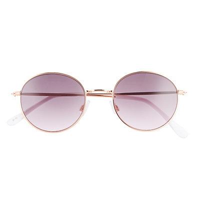 LC Lauren Conrad Evy 48mm Round Gradient Sunglasses