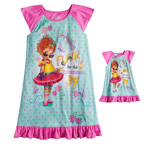 Disney's Fancy Nancy Girls 4-10 Nightgown & Matching Doll Gown