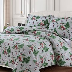 Heavyweight Printed Cotton Flannel Duvet Cover Set