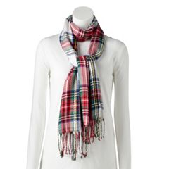 Women's Apt. 9® Plaid Woven Pashmina Oblong Scarf