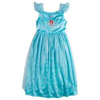 Disney's The Little Mermaid Ariel Girls 4-8 Fantasy Nightgown