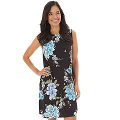 57c7eccd92 Women s Apt. 9® Printed Sleeveless Swing Dress