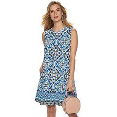 Women's Apt. 9® Printed Sleeveless Swing Dress