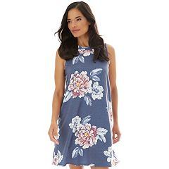 15707beae014 Women's Apt. 9® Printed Sleeveless Swing Dress