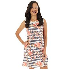9c8533c34dd61 Women s Apt. 9® Printed Sleeveless Swing Dress